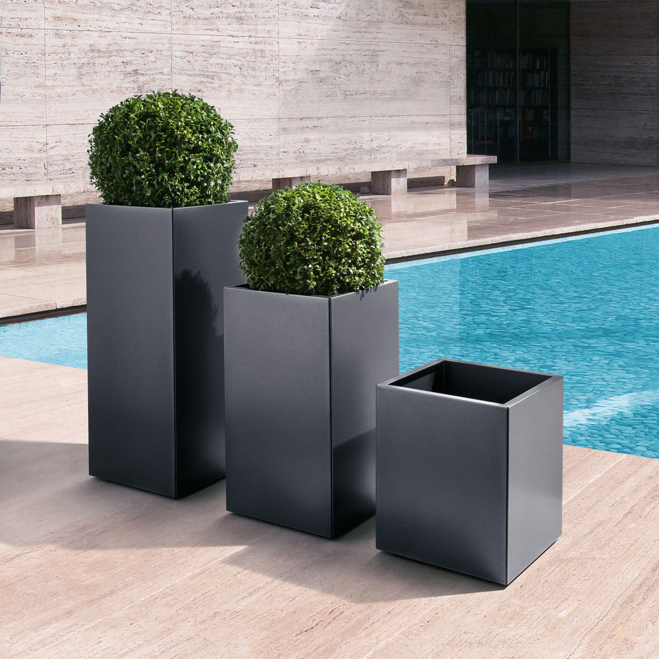 verrijdbare plantenbak planter goedkoop online kopen. Black Bedroom Furniture Sets. Home Design Ideas