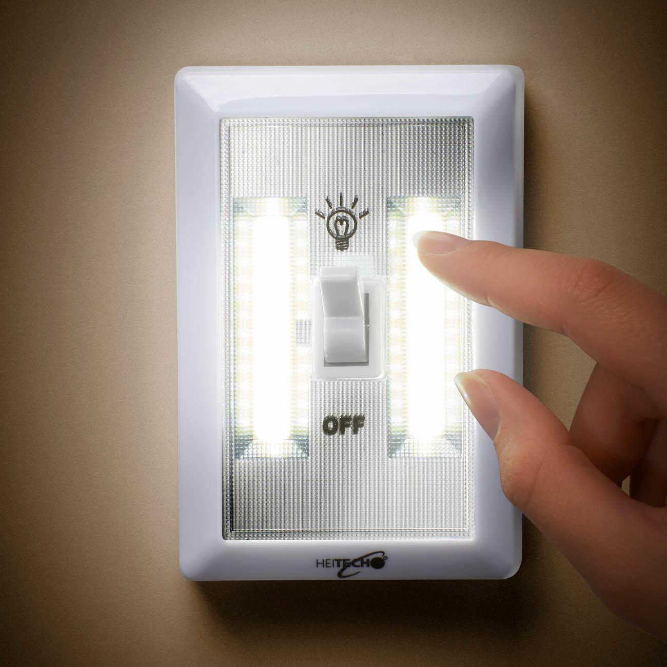 led wandverlichting op batterijen set van 3 kopen. Black Bedroom Furniture Sets. Home Design Ideas