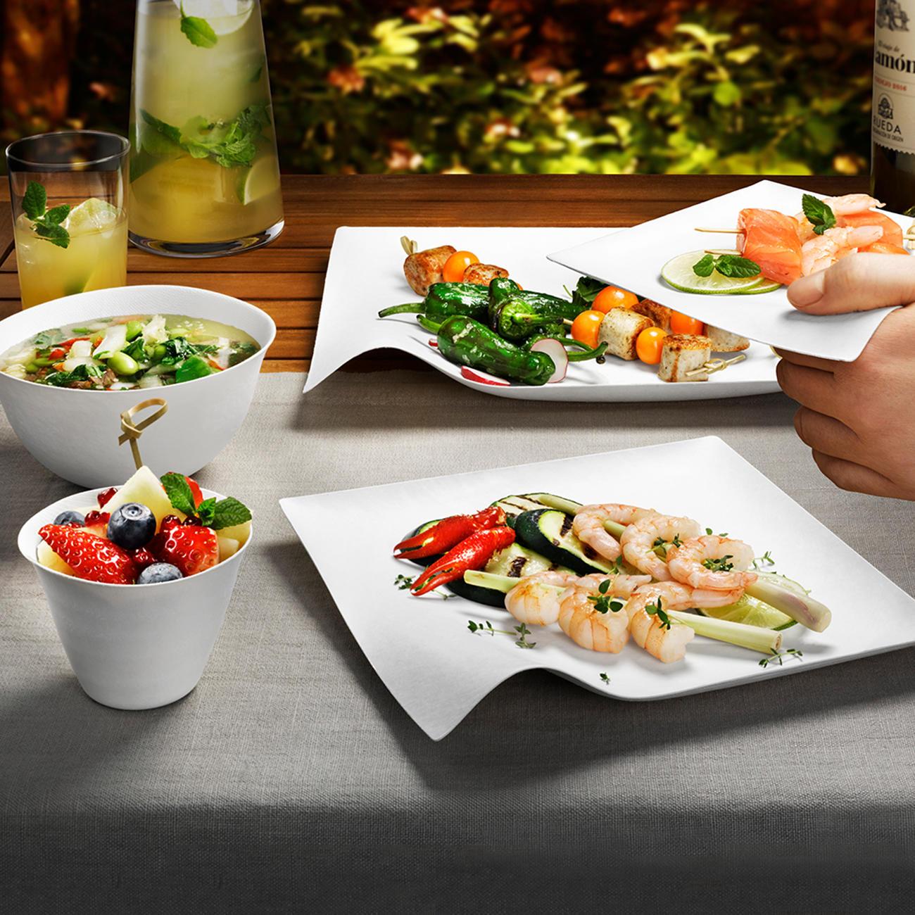 Goede Design-oneway-servies, set van 8 goedkoop online kopen ZU-69