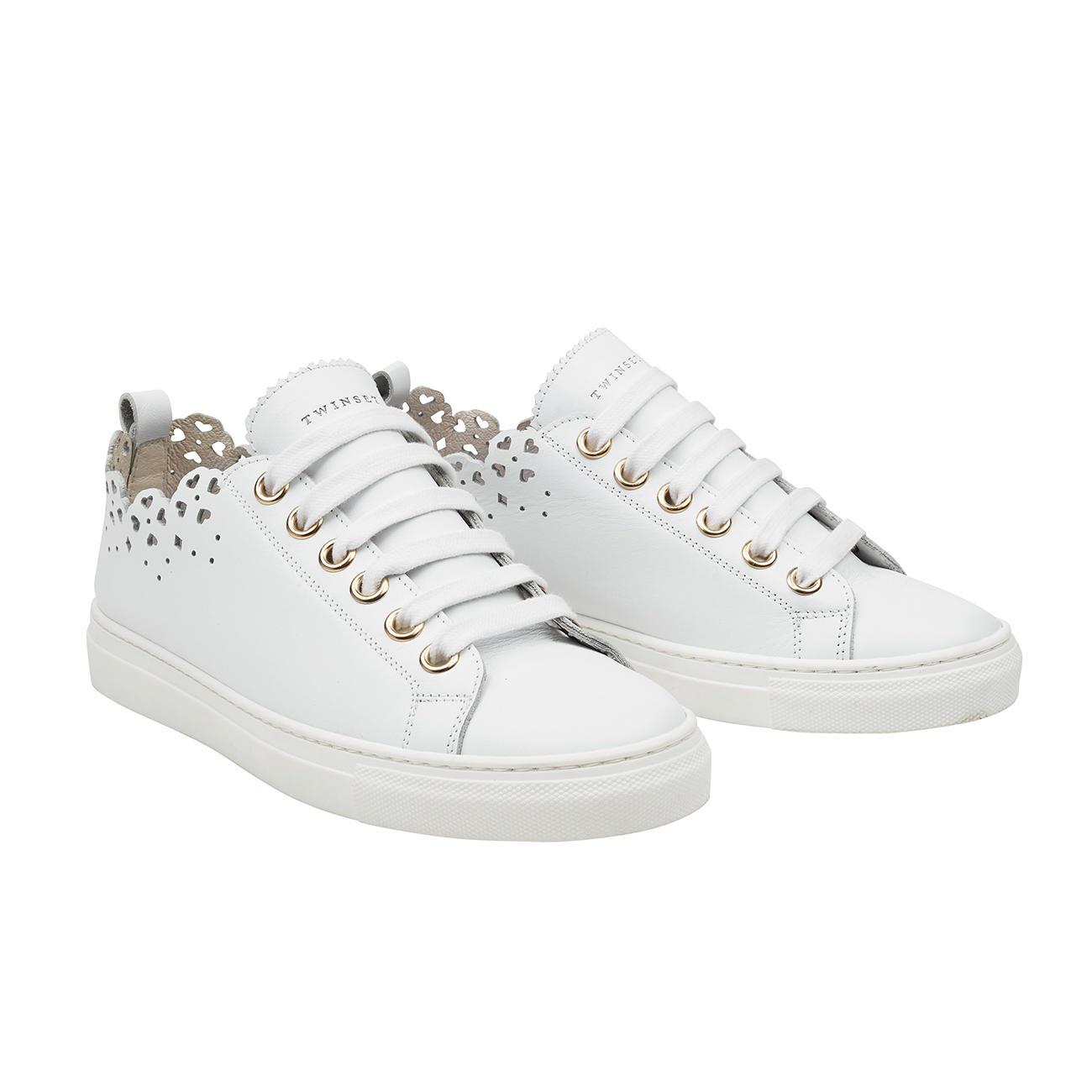 TWINSET sneakers met kant | Mode Klassiker entdecken