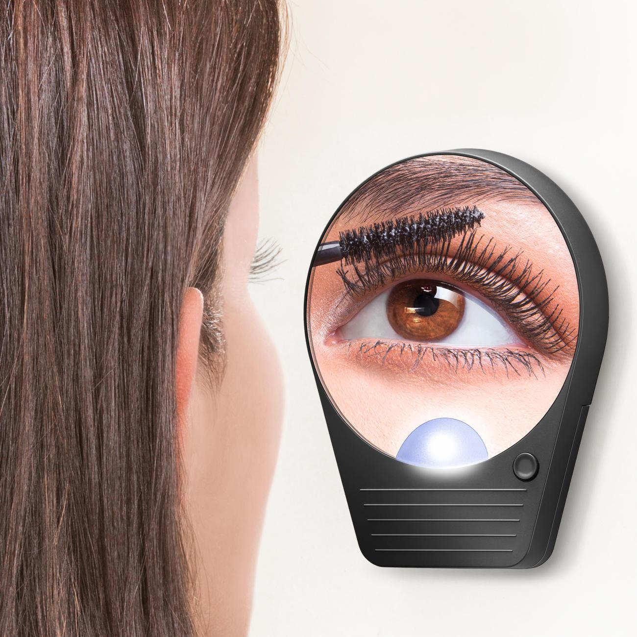 spiegel met vergrootspiegel