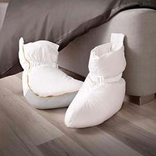 Bedsokken - De bedsokken met 120 g halfdons vulling zorgen direct voor plezierige warmte.