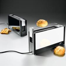 toaster, zwart en wit