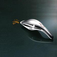 Alessi accustofzuiger - Elegant design. Verwijdert op krachtige wijze kruimels, vuil en zelfs plasjes vocht.