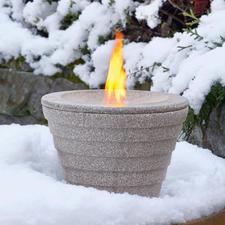 Smeltvuur met apart verkrijgbare winterkap.