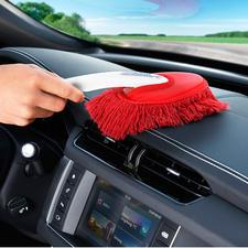 Met de kleinste borstel (bijbehorend) maakt u eenvoudig het interieur van uw auto schoon.