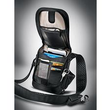 Safety-schoudertas - Meteen 3 tegenvallers voor dieven. Niet door te snijden. RFID-bescherming. Met alarm.