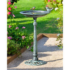 Victoriaans vogelbad - Met patina, naar historisch voorbeeld. In de traditie van de Engelse tuinen.