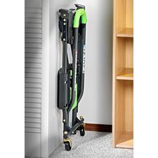 Ingeklapt tot slechts 10,5cm wacht uw transportkar op de volgende klus, netjes opgeborgen in uw berging, kelder, werkplaats, garage, kofferruimte,...