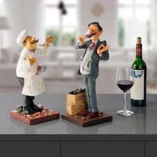 Forchino figuur Kok of Wijnproever - De kunst om het (beroeps-)leven met humor en ironie te benaderen.