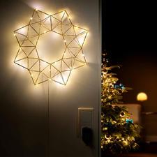 Verlichte piramidenster - Feestverlichting – maar dan subtiel en filigraan: de led-ster in moderne, geometrische vorm.