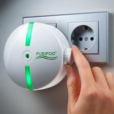 Puripod® ionen-luchtreiniger - Zuivere omgevingslucht, of u nu thuis bent of ergens anders.