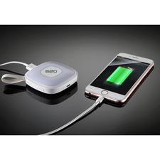 2.000mAh-oplaadcapaciteit is voldoende voor het helemaal opladen van een smartphone of het opladen van uw e-reader of tablet.