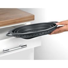 Past gemakkelijk in elke lade of elk vak van de keukenkast.