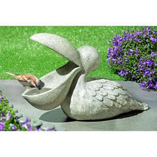 Vogelbad Pelikaan - Een bijzondere tuindecoratie en een perfecte pauzeplek voor vinken, mezen & meer.