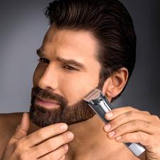 Carrera baardtrimmer No 623 - Voor korte en lange haren. Extra smalle en scherpe mesjes van met titanium gecoat edelstaal.