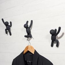 Kapstokhaak 'Klimmer', 3-delige set - Modern kunstobject of artistieke kapstok? Beide!