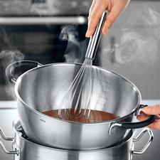 De kom is ideaal om in een waterbad te gebruiken voor het smelten van chocolade.