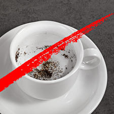 Nooit meer koffiedik in uw koffie.