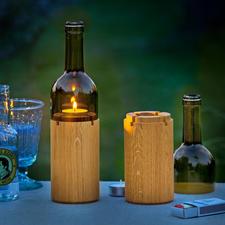 Wijnlicht - Sfeervolle lichtbron voor een romantisch dinertje op het balkon of het terras.