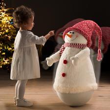 Tuimelsneeuwpop - Deze sneeuwpop wil iedereen steeds weer aanraken.