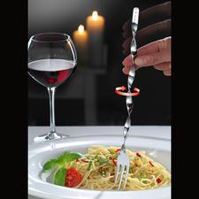 Spaghetti-spiraalvork, set van 2 - Met de spiraalvork wordt het opdraaien van spaghetti kinderspel.