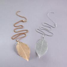 Bodhibladketting - Door de natuur ontworpen: het blad van de bodhiboom. Verguld of verzilverd. En elke ketting is uniek.