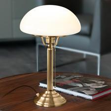 Berliner Messing tafellamp - Een klassieker uit de begintijd van de elektriciteit.