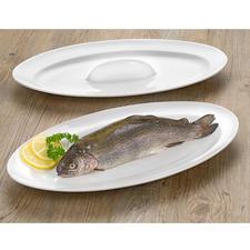 Bak- en serveerschaal voor vis - Sappig gebakken vis: aan alle kanten mooi bruin en stijlvol geserveerd.