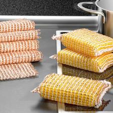 Koperen spons, set van 3 of Koperen doekje, set van 5 - Zonder moeite schoon, zonder krassen. Reinigt snel en spaart metaal, glas, etc. Van nature antibacterieel.