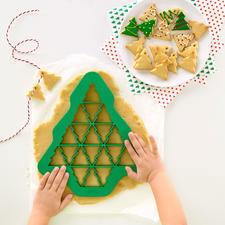 Uitsteeksjablonen, 3-delige set (dennenboom, hart, sneeuwvlok) - Maak met één uitsteekvorm tot wel 19 (!) perfect gevormde koekjes tegelijkertijd.