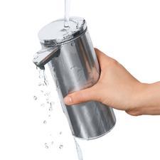 Om hem schoon te maken, kunt u de waterdichte dispenser (IP67) probleemloos onder stromend water afspoelen.