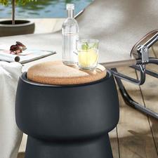 Champ stool/cooler - Elegante blikvanger: comfortabele extra kruk met 15 l onzichtbare opbergruimte.