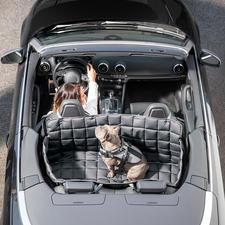 Op 95 °C wasbare hondendeken voor in de auto - 100% te reinigen van bacteriën, parasieten en geuren. Met bescherming aan alle kanten voor achterbank en kofferruimte.