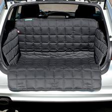 Naar keuze als deken voor de kofferbak met geïntegreerde stootbescherming voor de stangen van de auto.
