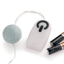 U activeert de leds met de handschakelaar– werkt op batterijen, zonder onhandige kabels.