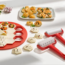 3-delige bakset voor mini-pies - Heerlijke mini-deeghapjes met verschillende vullingen – u maakt ze gemakkelijker en sneller dan ooit.