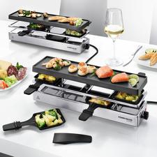 Combi-gourmetstel - Eindelijk een gourmetstel dat ook geschikt is voor grotere gezelschappen (tot 12 personen).