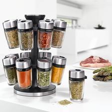 Cole & Mason kruidencarrousel - 16 kruiden en specerijen in een handomdraai – in een elegant design.