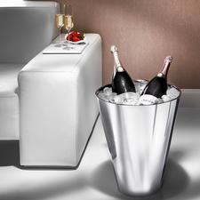 Champagnekoeler - In magnum-formaat. Van dubbelwandig edelstaal.