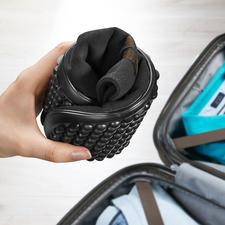 Zeer flexibel– ook compact in de (reis)bagage op te bergen.