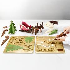 Chocoladevorm, rendierslee - Hemelse advent decoratie van chocolade. Van het professionele merk Silikomart®.