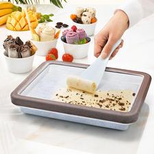 Rolled Ice-koelvorm - De food-trend van deze zomer: zachte ijsrolletjes – en u maakt ze heel gemakkelijk zelf.