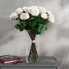 Boeket rozen Avalanche - Onvergankelijke schoonheid. Fascinerend natuurgetrouw - alsof het net nog door de bloemist is geschikt.