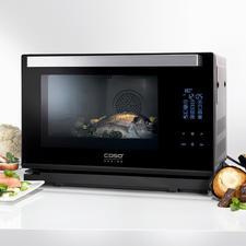 Caso stoomoven Steam Chef - Heteluchtoven, stoomoven en grill in één compact apparaat. Van Caso.