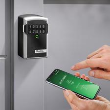 Elektronisch sleutelkluisje - Elektronisch beveiligd. Stevig, weerbestendig en met een app te bedienen en te controleren.