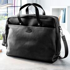 Oconi multiway-businesstas - Een zeer veelzijdige tas voor kantoor. Van chic rundleer. Van Oconi.