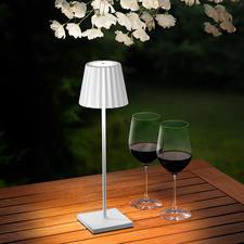 Oplaadebar design tafellamp - Mooi, eenvoudig en met een sierlijk design. Voor binnen en buiten.