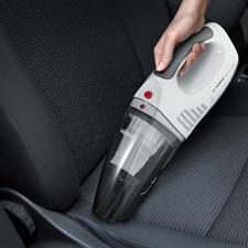 S'Power® accuhandstofzuiger - Voor opzuigen van nat en droog vuil. Werkt op accu en 12V-aansluiting.