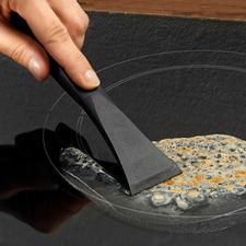 Krasvaste kookplaatschraper - Zonder lemmet te hoeven wisselen altijd klaar voor gebruik. 100% hygiënisch en zonder gevaar te gebruiken.